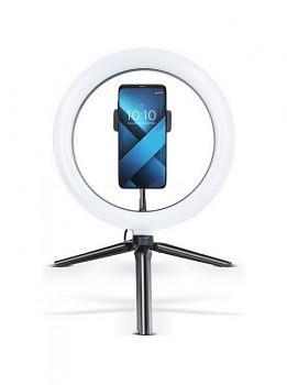 Bluetooth selfie tyč Ring Light FILL s LED osvětlením černá