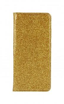 Knížkové pouzdro Magnet Book na Samsung A52 glitter zlaté