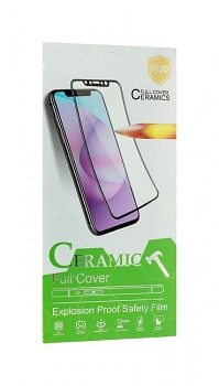 Fólie na displej Ceramic pro iPhone SE 2020 Full Cover černá