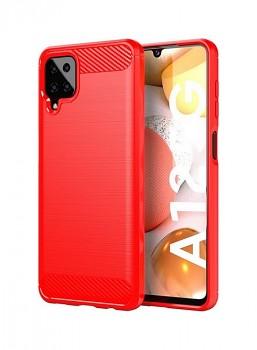 Zadní silikonový kryt na Samsung A12 červený