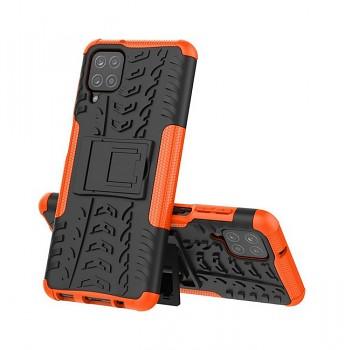 Ultra odolný zadní kryt na Samsung A12 oranžový