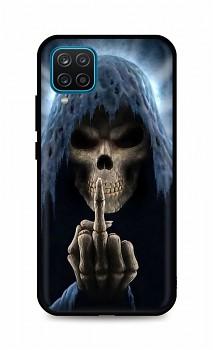 Zadní silikonový kryt DARK na Samsung A12 Fuck Off