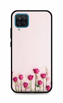 Zadní silikonový kryt DARK na Samsung A12 Roses