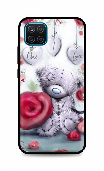 Zadní silikonový kryt DARK na Samsung A12 Teddy Bear