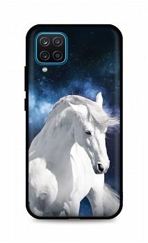 Zadní silikonový kryt DARK na Samsung A12 White Horse