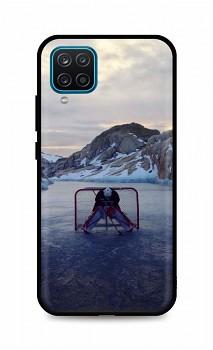 Zadní silikonový kryt DARK na Samsung A12 Hockey Goalie