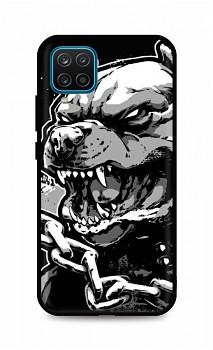 Zadní silikonový kryt DARK na Samsung A12 Agressive Pitbull