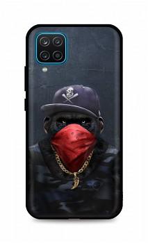 Zadní silikonový kryt DARK na Samsung A12 Monkey Gangster