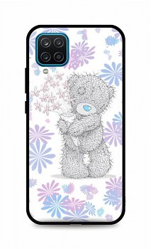 Zadní silikonový kryt DARK na Samsung A12 Floral Teddy