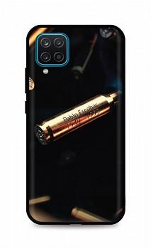 Zadní silikonový kryt DARK na Samsung A12 Pablo Escobar Bullet