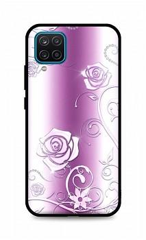Zadní silikonový kryt DARK na Samsung A12 Abstract Roses