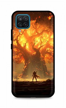Zadní silikonový kryt DARK na Samsung A12 Warcraft