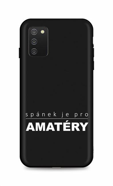 Zadní silikonový kryt DARK na Samsung A02s Bez spánku