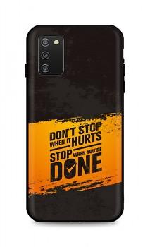 Zadní silikonový kryt DARK na Samsung A02s Don´t Stop