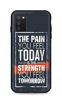 Zadní silikonový kryt DARK na Samsung A02s Strength