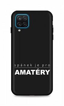 Zadní silikonový kryt DARK na Samsung A12 Bez spánku
