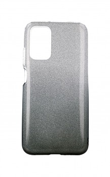 Zadní pevný kryt na Xiaomi Redmi 9T glitter stříbrno-černý