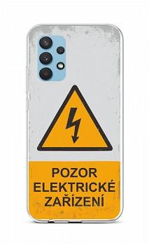 Zadní silikonový kryt na Samsung A32 Pozor elektrické zařízení