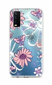 Zadní silikonový kryt na Vivo Y20s Flowers