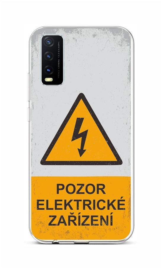 Zadní silikonový kryt na Vivo Y20s Pozor elektrické zařízení