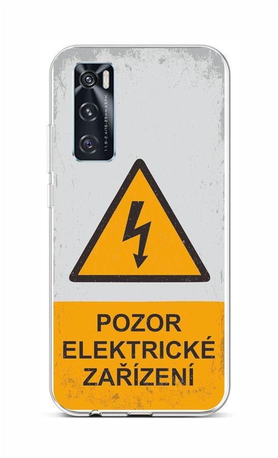 Zadní silikonový kryt na Vivo Y70 Pozor elektrické zařízení