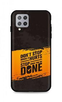 Zadní silikonový kryt DARK na Samsung A42 Don´t Stop
