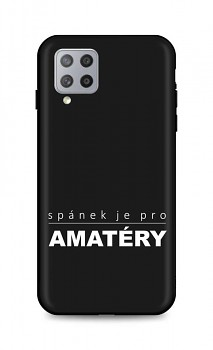 Zadní silikonový kryt DARK na Samsung A42 Bez spánku
