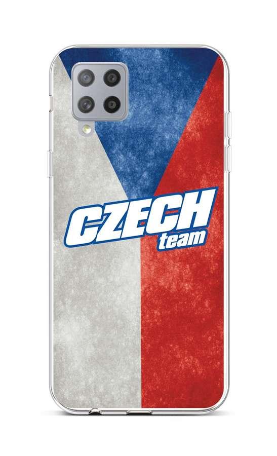 Zadní silikonový kryt na Samsung A42 Czech Team