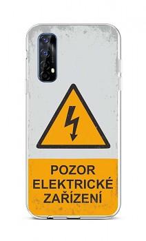 Zadní silikonový kryt na Realme 7 Pozor elektrické zařízení