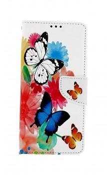Knížkové pouzdro na Samsung A12 Barevné s motýlky