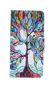 Knížkové pouzdro na Samsung A12 Barevný strom