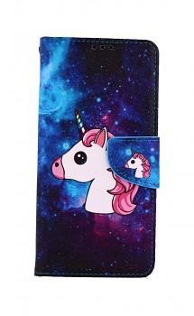 Knížkové pouzdro na Samsung A12 Space Unicorn