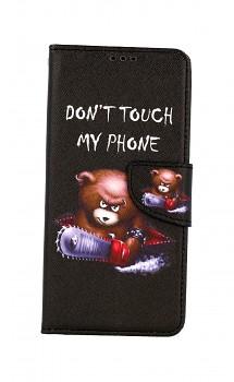 Knížkové pouzdro na Samsung A12 Don't Touch méďa