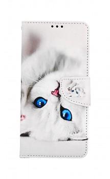 Knížkové pouzdro na Samsung A12 Kočička