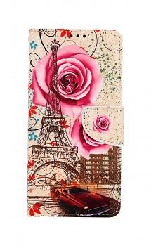 Knížkové pouzdro na Samsung A12 Rozkvetlá Paříž