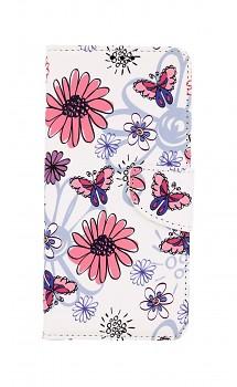 Knížkové pouzdro na Samsung A12 Flowers
