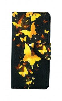 Knížkové pouzdro na Samsung A12 Luxusní motýlci