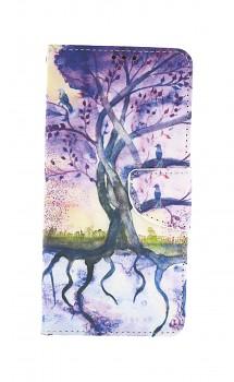Knížkové pouzdro na Samsung A12 Kresba stromu