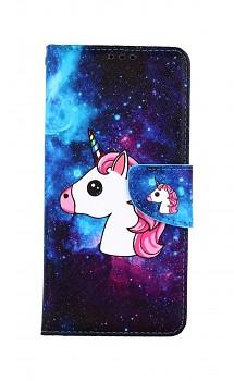 Knížkové pouzdro na Vivo Y20s Space Unicorn