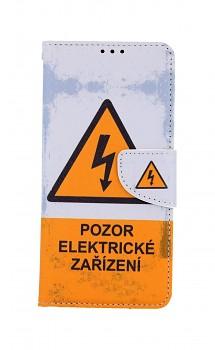 Knížkové pouzdro na Vivo Y20s Pozor elektrické zařízení