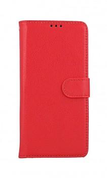 Knížkové pouzdro na Samsung A12 červené s přezkou