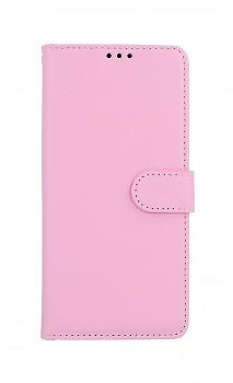 Knížkové pouzdro na Samsung A12 světle růžové s přezkou