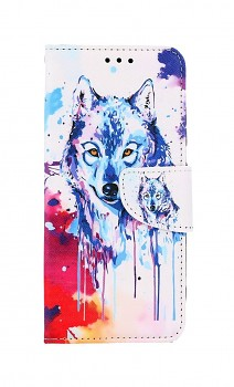 Knížkové pouzdro na Samsung A32 Kresba vlka