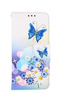 Knížkové pouzdro na Samsung A32 Bílé s motýlkem