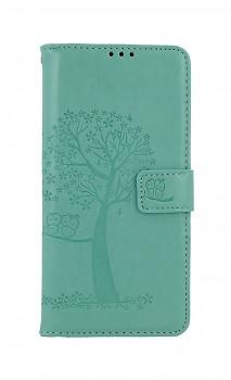Knížkové pouzdro na Samsung A12 Zelený strom sovičky