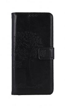 Knížkové pouzdro na Samsung A12 Černý strom sovičky