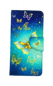 Knížkové pouzdro na Samsung A12 Obloha s motýlky