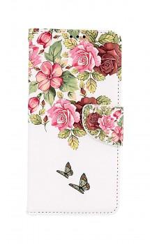 Knížkové pouzdro na Samsung A12 Něžné květy