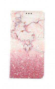 Knížkové pouzdro na Samsung A12 Růžový mramor