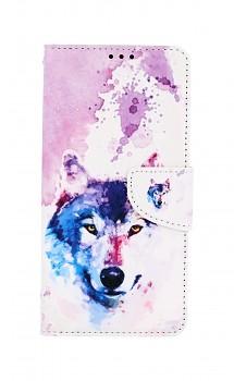 Knížkové pouzdro na Samsung A12 Polární vlk